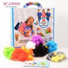 [ 27% OFF ] 400 Pcs Assemble 3D Puzzle Diy Puff Ball Squeezed Ball Creative Thorn Ball Clusters Handmade Educational Toys Birthday Gifts