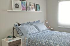 Jovem casal transforma quarto antigo em um ambiente acolhedor e funcional. A inspiração veio ideias garimpadas da MINHA CASA