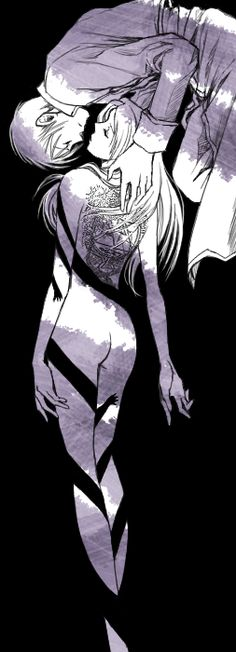 Anime: Fullmetal Alchemist Brotherhood Personagens: Roy Mustang e Riza Hawkeye