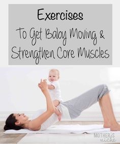 Great way to strengthen mom & Baby at the same time