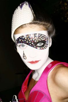 Clownish Couture Makeup: Roxanne Lowit's Detailed Fashion Photos in 'Backstage Dior'
