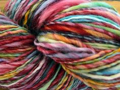 handspun  yarn....mmmm those colors