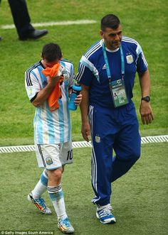 Argentina 3-2 Nigeria World Cup 2014 : Lionel Messi is substituted after ensuring the job was done.