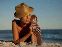 Dreaming of fun in the sun while wearing my #ericjavits hat and sandals
