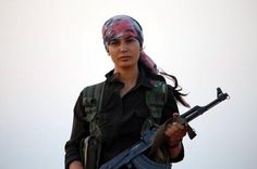 bijikurdistan: Sep 26 Kurdish YPG Woman Fighter today in Kobani during the Struggle against ISIS