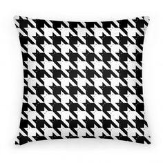 Catstooth Pillow #pillow #pattern #cats #houndstooth #funny #trendy #awesome #decor #lazy #meow