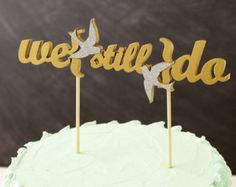 Unique Vow Renewal Ideas   Custom Listing for Tiffany Kathryn Rea - Vow Renewal Love Birds Cake ...