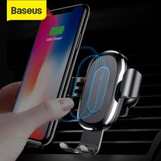 *** Ships from the USA with USPS Express mail in Business Days *** Baseus Wireless Charger Car Holder For iPhone X 8 Samsung QI Wireless Charging Charger Car Mount Phone Holder Stand Wireless Charging Pad, Car Mount Holder, Car Holder, Smartwatch, Audi, Cute Car Accessories, Mobile Accessories, Car Phone Mount, Tecnologia