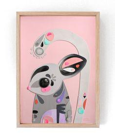 "▲ SOLD OUT ▲ ""Sugar Glider"" --------------------- ▲ ORIGINAL ARTWORK ▲ --------------------- 32cm wide x 44cm high Collage, Acrylic on 300gsm Arche..."