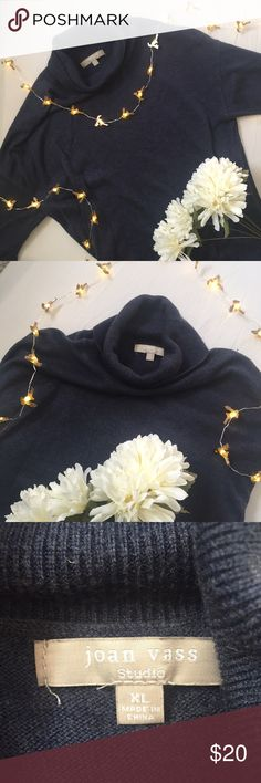 Joan Vass 🔹 Turtle Neck Only worn once. Is extremely soft and fits well. Sorry no trades! joan vass Sweaters Cowl & Turtlenecks