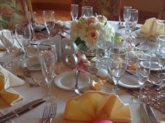 Mercury glass centerpiece of Hydrangea, Roses, and Lisianthus. Floral designs by China Rose Florist, Marco Island, Fl.