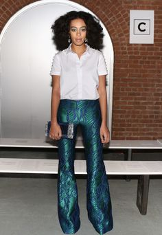Solange Knowles Photos - Front Row at the Wes Gordon Show - Zimbio