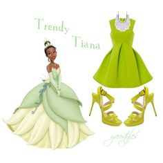 Trendy Tiana by yviestyle on Polyvore featuring polyvore fashion style Jimmy Choo Lucky Brand Disney