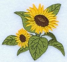 Sunflower Top - 4x4 | Floral - Flowers | Machine Embroidery Designs | SWAKembroidery.com Starbird Stock Designs