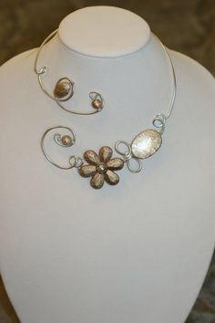 WEDDING JEWELRY - Bronze necklace - Metal wire necklace   LesBijouxLibellule - Jewelry on ArtFire