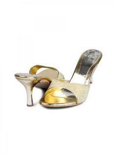 Catwalk Women Wedding Gold Crystal Heels