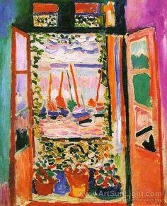 Open window at Collioure Artist:Henri Matisse