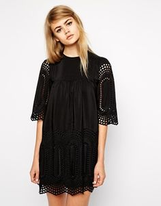 In love with this dress from Little White Lies. Beaut cutwork detailing and it's in my favourite colour – BLACK! http://asos.do/KK3rLn