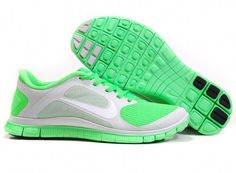 9bdeb5daf243 Nike Free 4.0 V3 Pure Platinum White Poison Green Mens Running Shoes Nike  Sneakers, Discount