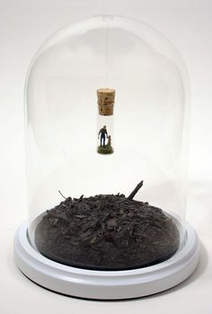 Sculptural works from the Distillation Series by contemporary artist Thomas Doyle. Mini Terrarium, Diy And Crafts, Arts And Crafts, The Bell Jar, Tiny World, Mini Things, Miniture Things, Glass Domes, Art Plastique