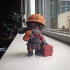 Made a TF2 engineer! Sentry goin up! #3dprinting #tf2 #videogame #tf2engineer #toyfigures #chibi #valve