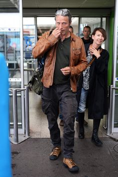 I love that he smokes. I want a smoke break with Mads.