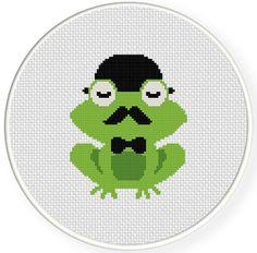 Classy Frog PDF Cross Stitch Pattern Instant by DailyCrossStitch