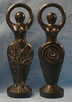 Goddess altar statues