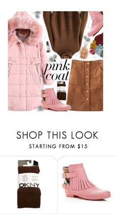 """""""Untitled #2318"""" by beebeely-look ❤ liked on Polyvore featuring DKNY, Burberry, BCBGMAXAZRIA, Winter, casual, sammydress, pinkcoats and puffers"""