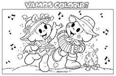 Desenhos da Turma da Mônica na Festa Junina   Desenhos e Riscos - Desenhos para colorir