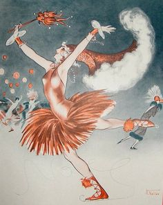 La Derniere Folie de L'annee - lithograph by Armand Vallee    for La Vie Parisienne, 1924