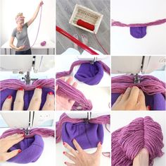 TUTORIAL: How to Make a Yarn Wig, 4 ways | MADE