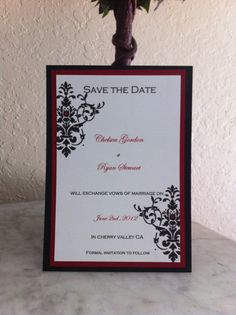 Flourish Save the Date by Blushingbride21 on Etsy, $1.50