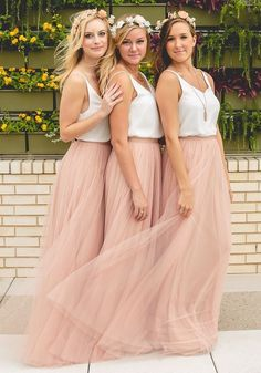 Boho Bridesmaid Dresses,Rustic Bridesmaid Dresses,Tulle Skirt Bridesmaid Dresses,Robe De Demoiselle D'Honneur,Fs015