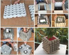 Timestamps DIY night light DIY colorful garland Cool epoxy resin projects Creative and easy crafts Plastic straw reusing ------. Cement Flower Pots, Diy Concrete Planters, Concrete Garden, Diy Planters, Diy Storage Projects, Diy Garden Projects, Garden Crafts, Concrete Crafts, Concrete Projects