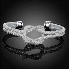 [ Promotion -50% ] Jonc Ajustable Noeud Souple - Bracelet Femme - So Chic Boutique <3 Voir: