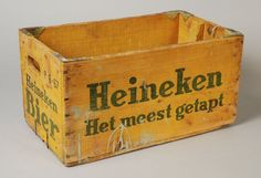 Gele bierkrat Heineken