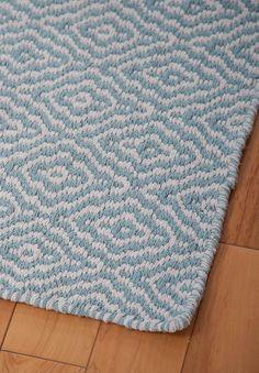 #HookandLoom Savannah Eco Cotton Rug - Light Blue and White