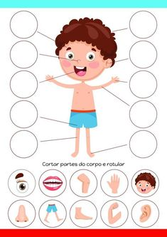 Body Parts Preschool Activities, Body Preschool, Preschool Writing, Preschool Learning Activities, Free Preschool, Toddler Activities, Preschool Bible, Fun Worksheets For Kids, Preschool Worksheets