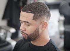 Short Faded Beard style for black men