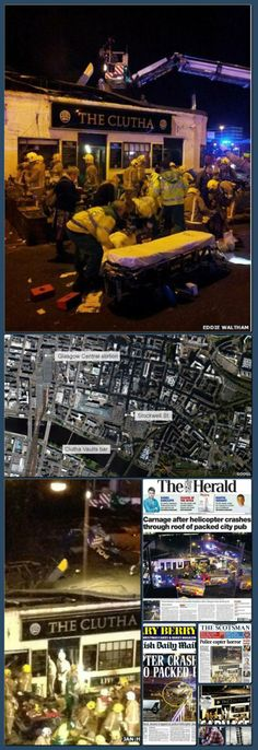 A police helicopter has crashed into a pub on the banks of the River Clyde in Glasgow. New Britain, Collage Making, Bbc News, Glasgow, Scotland, River, Shit Happens, Rivers