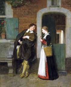 The amorous couple-Florent-Willems-