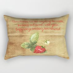 Strawberries are the angles of the earth Rectangular Pillow