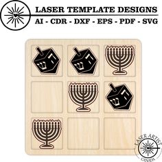 Template for Tic Tac Toe Game. Let us know if you would like us to create a custom game just for you. Tic Tac Toe Game, Silhouette Studio Designer Edition, Game Pieces, Laser Cutting, Cricut Design, Hanukkah, Create Yourself, Personalized Gifts, Just For You