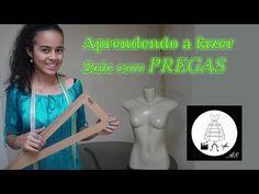 Aprendendo a fazer saia com pregas por Alana Santos Blogger - YouTube