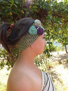 FREE SHIP Spring Headband emerald green by JasmneAccessores, $15.90