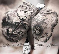Nautical tattoo by Alessio Favre