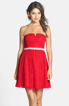 a. drea Embellished Lace Skater Dress (Juniors)   Nordstrom