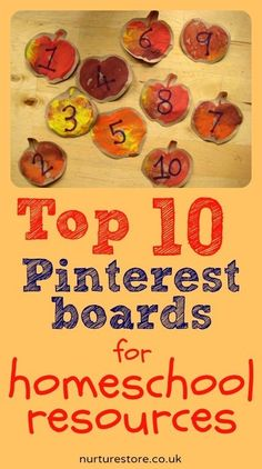 Top Ten #Pinterest Boards for Homeschool