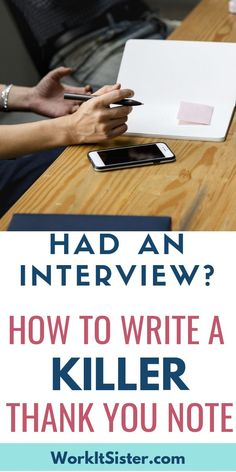 Learn How to Write Killer Post-Interview Thank You Notes Get your dream job by using proper etiquette and wowing the hiring manager! Here you'll learn how to write killer post-interview thank you notes. Thank You After Interview, Teacher Job Interview, Interview Thank You Letter, Teaching Interview, Teacher Interviews, Phone Interviews, Job Interview Tips, Interview Questions, Interview Process